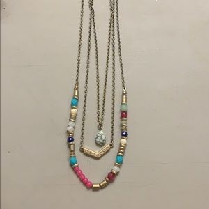 Multiple layered necklace